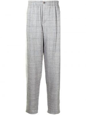 Spodnie wełniane z printem Giorgio Armani