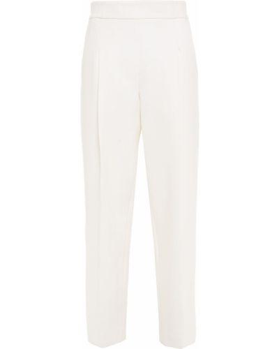 Прямые белые брюки с карманами Oscar De La Renta