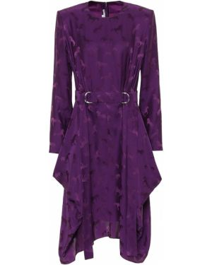 Платье миди шелковое фиолетовый Stella Mccartney