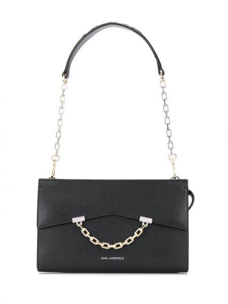 Черная сумка на цепочке Karl Lagerfeld