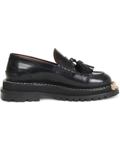 Черные кожаные туфли Sandro