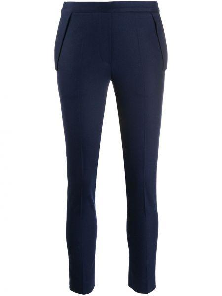Синие вязаные трикотажные брюки Kiton