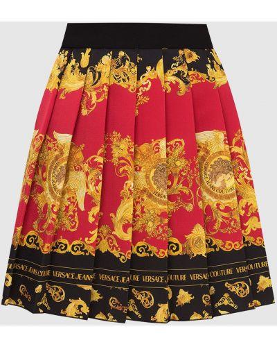 Джинсовая юбка миди - черная Versace Jeans Couture