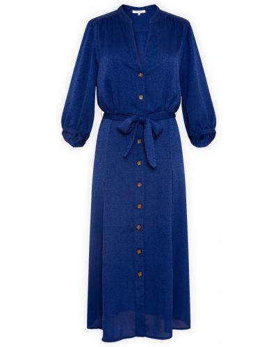 Синее платье-рубашка Gerard Darel