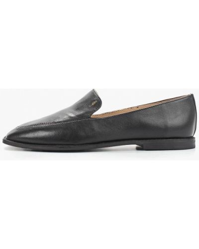 Лоферы черные на каблуке Antonio Biaggi