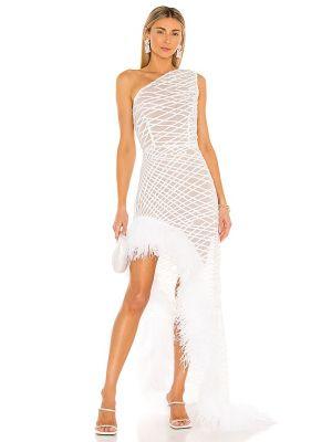 Biała klasyczna sukienka z siateczką Bronx And Banco