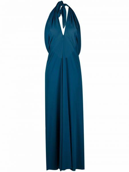 Niebieska sukienka długa Eres