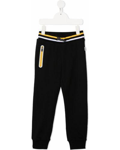 Спортивные черные спортивные брюки с поясом на молнии Paul Smith Junior