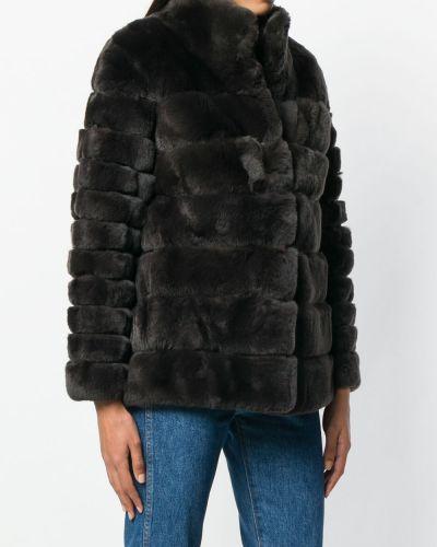 Коричневая длинная куртка N.peal