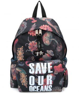Czarny plecak z kieszeniami na paskach Vivienne Westwood
