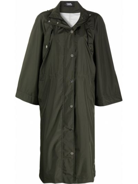 Płaszcz przeciwdeszczowy - zielony Karl Lagerfeld