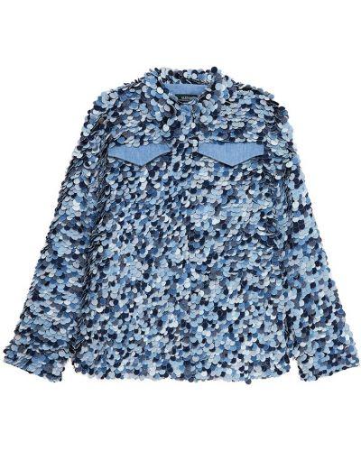 Однобортный пиджак с воротником с карманами с аппликациями Alena Akhmadullina