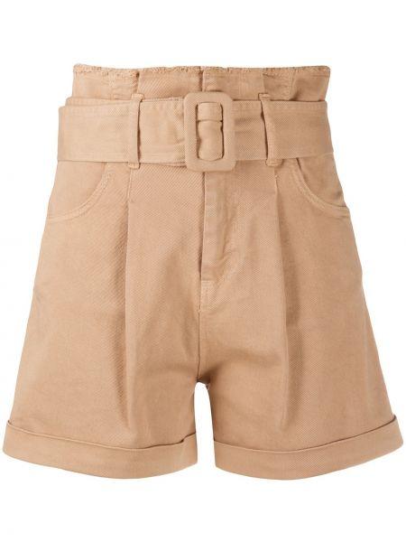 Однобортные шорты с карманами из верблюжьей шерсти Federica Tosi