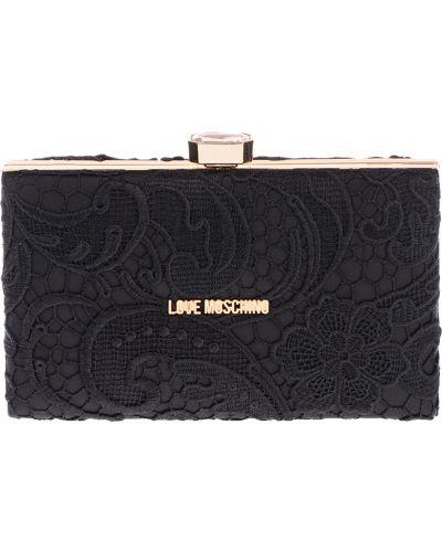 Текстильный клатч - черный Love Moschino