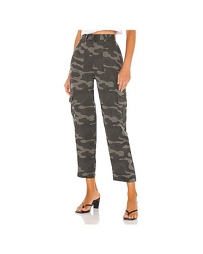 Серые брюки карго с карманами на молнии Rails