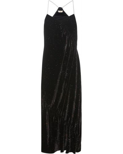 Шелковое платье - черное Edun