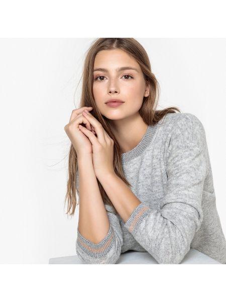 С рукавами акриловый пуловер круглый с круглым вырезом Sud Express