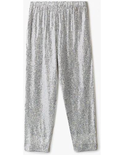 Серебряные брюки Patrizia Pepe