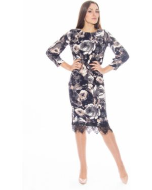Платье с цветочным принтом из вискозы Lautus
