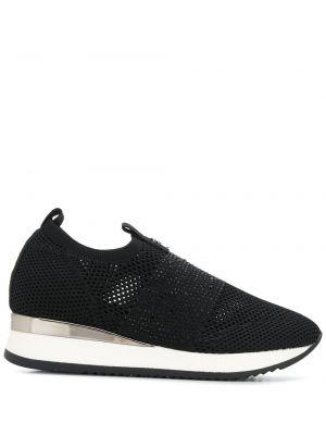 Черные кроссовки с сеткой без застежки Carvela