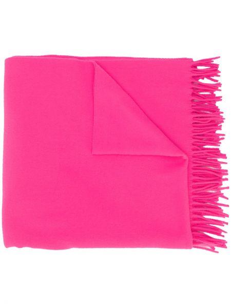 Wełniany różowy szalik przycięte A.p.c.