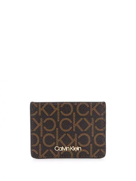 Кошелек золотой леопардовый Calvin Klein