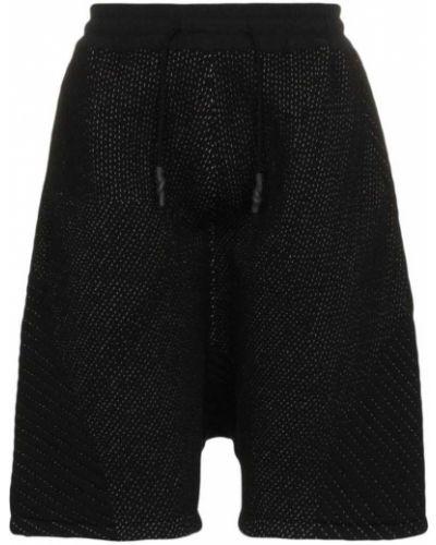 Черные шорты с карманами свободного кроя Byborre