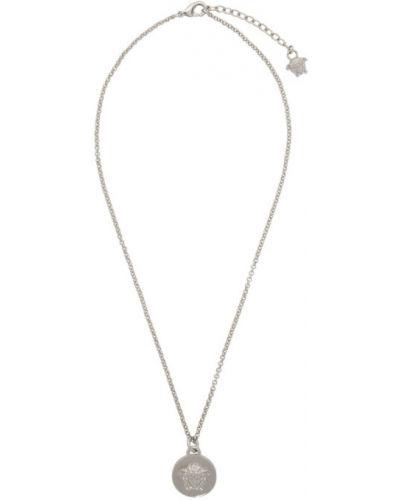 Серебряная подвеска на шнурках Versace