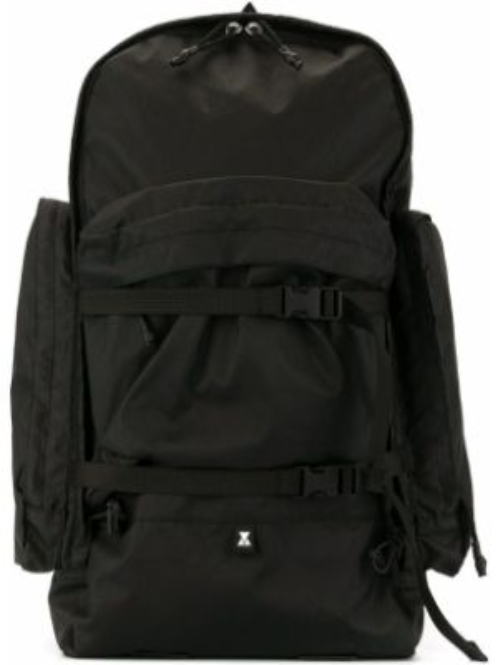 Черная нейлоновая сумка на плечо круглая Makavelic