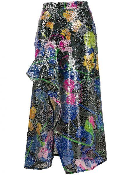 Юбка миди с цветочным принтом с завышенной талией Ainea