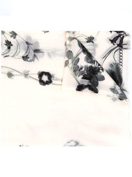 Wełniany szalik z logo Alexander Mcqueen