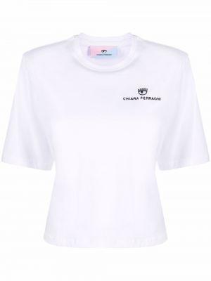 Белая футболка с короткими рукавами Chiara Ferragni