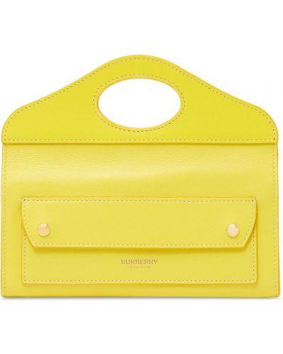 Żółta złota kopertówka Burberry