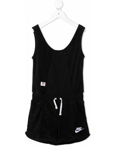 Флисовый черный комбинезон с вырезом Nike Kids