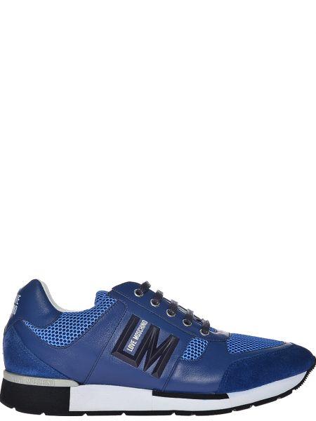 Синие кроссовки Love Moschino