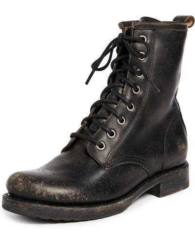 Ботильоны на каблуке - черные Frye