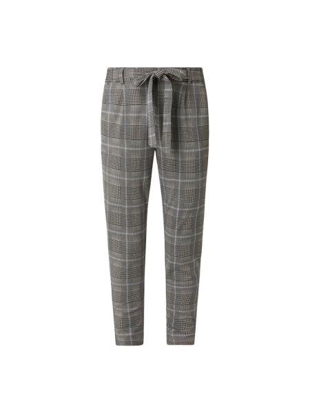 Spodnie z wiskozy w kratę Moss Copenhagen