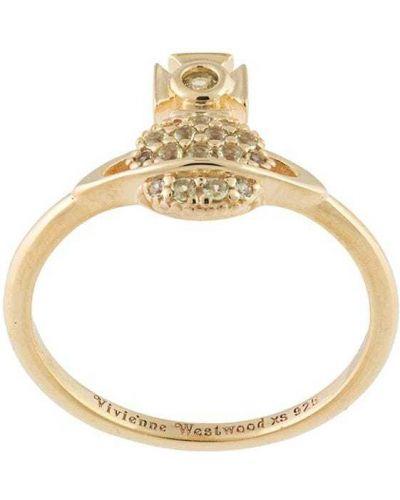 Złoty pierścionek pozłacany Vivienne Westwood