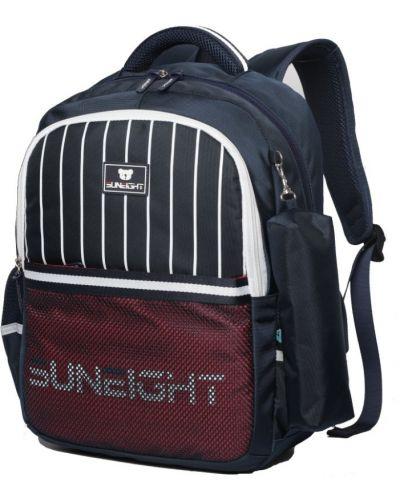 Синий школьный рюкзак для ноутбука с карманами Sun Eight