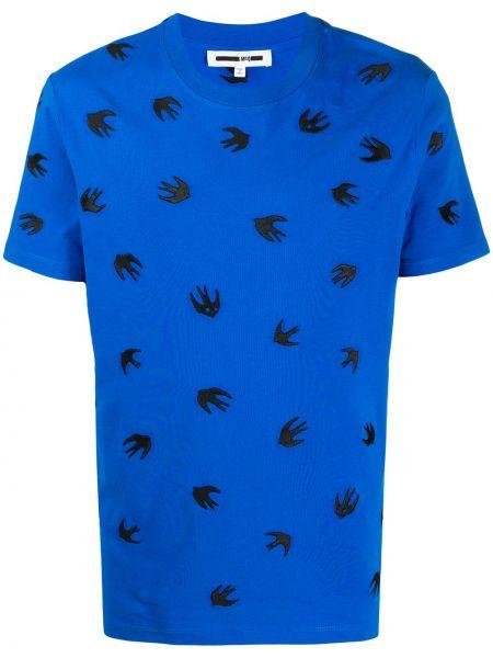 Koszula krótkie z krótkim rękawem z logo prosto Mcq Alexander Mcqueen
