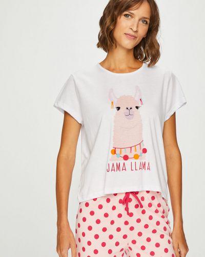 Пижама с брюками хлопковая с принтом Answear