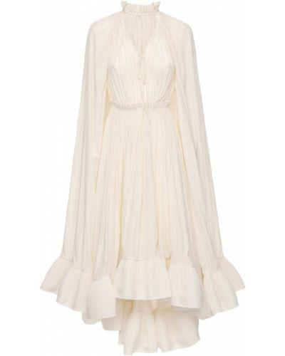 Белое платье Lanvin