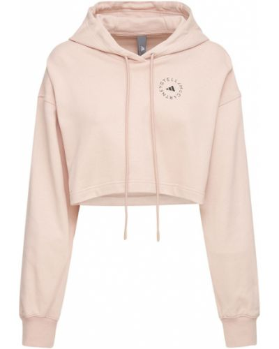 Розовое худи с манжетами Adidas By Stella Mccartney