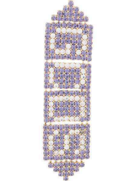 Фиолетовые серьги-гвоздики металлические Gcds