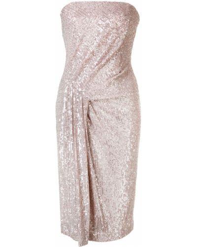 Приталенное розовое платье Black Halo