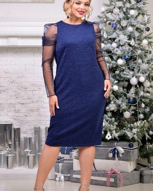 Платье сетчатое со складками Odetta