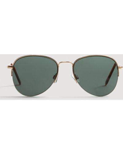 Зеленые солнцезащитные очки Mango Man