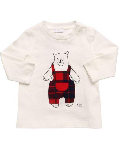 Bawełna bawełna biały koszula z łatami Il Gufo
