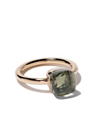 Zielony złoty pierścionek do pracy Pomellato