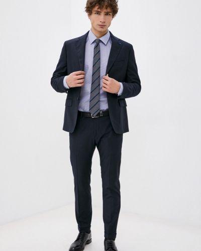 Костюмный синий костюм классический Primo Emporio